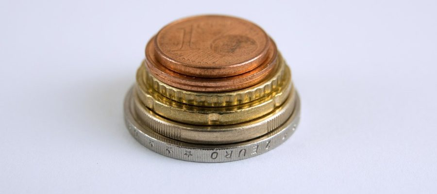 Coins Euro Cent Stack Cash